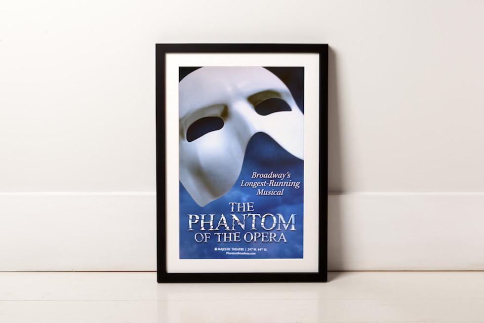 Frame for broadway poster