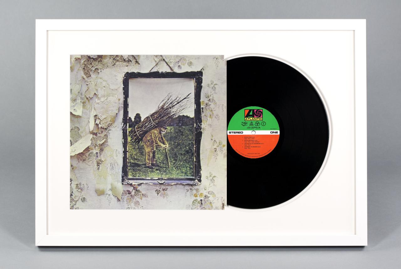 Led Zeppelin Iv Framed Vinyl Album
