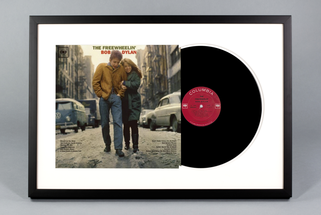 The Freewheelin Bob Dylan Framed Vinyl Album