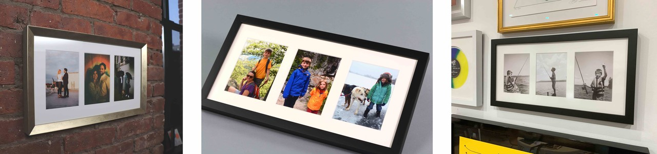Collage picture frames trio - Online custom framing with Level Frames