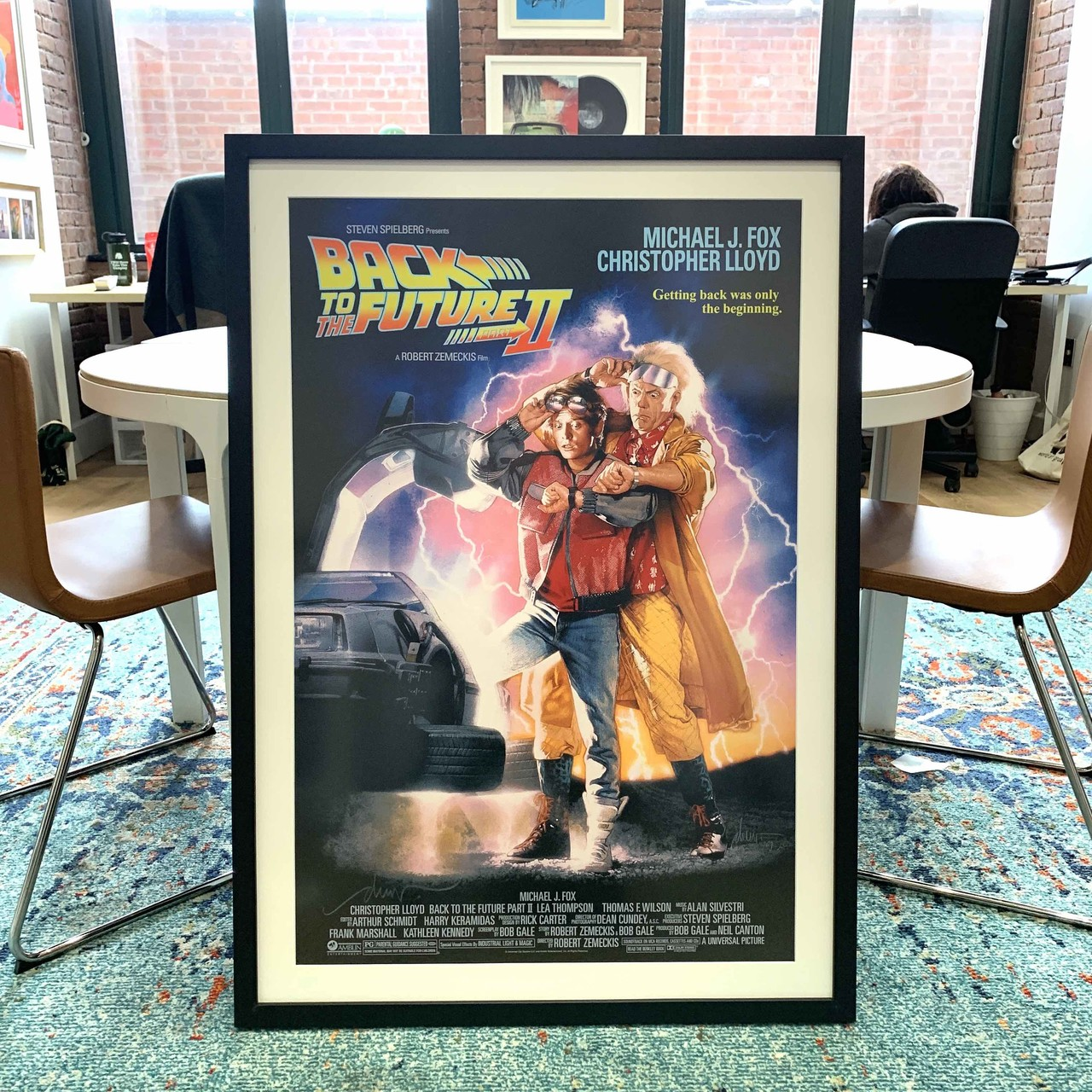 Back to the Future poster custom framed