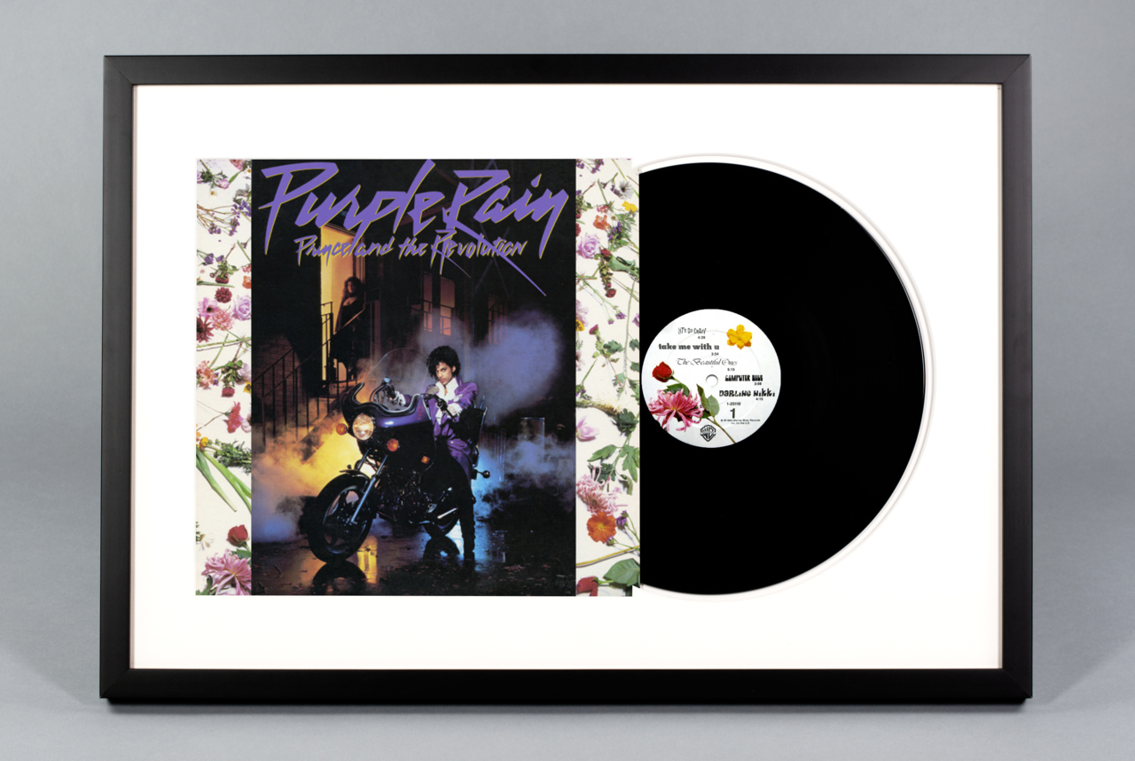 Purple Rain Framed Vinyl Album