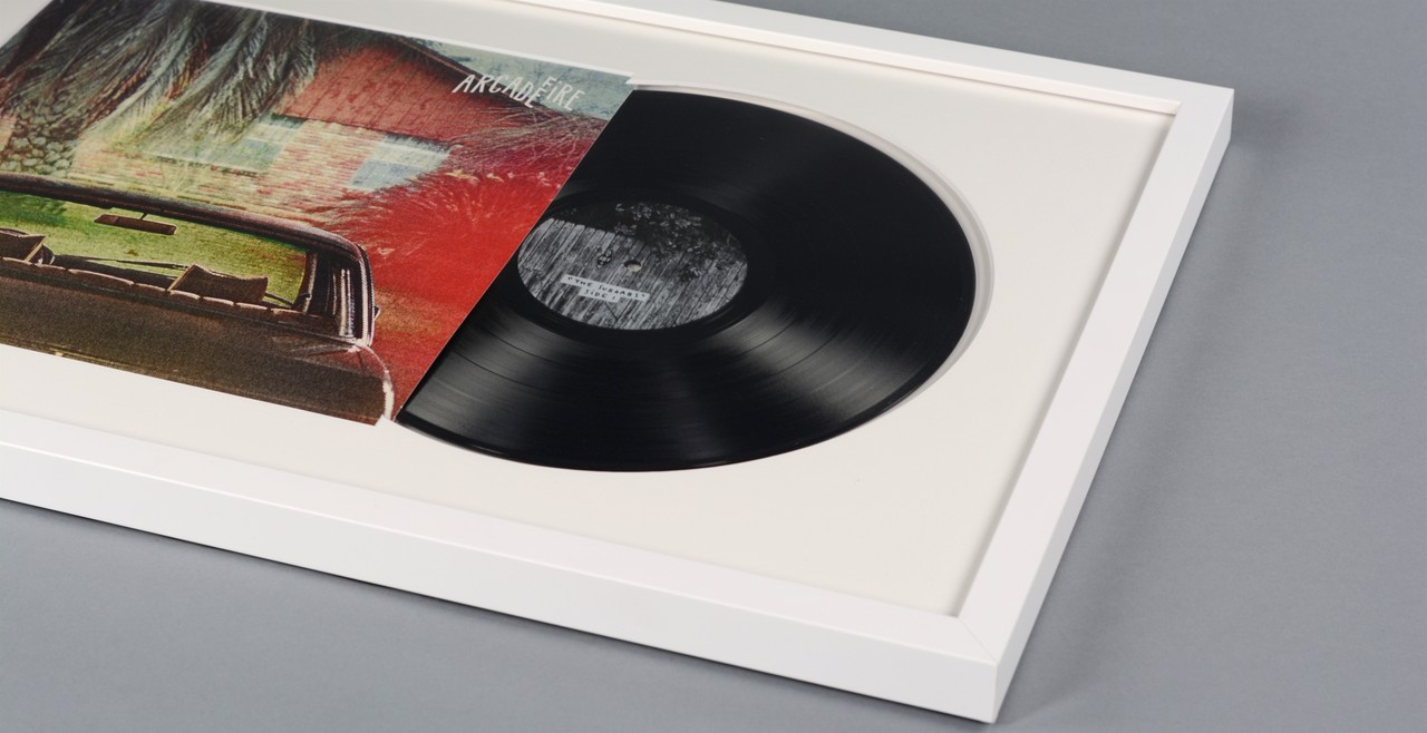 Custom Framed Vinyl Records