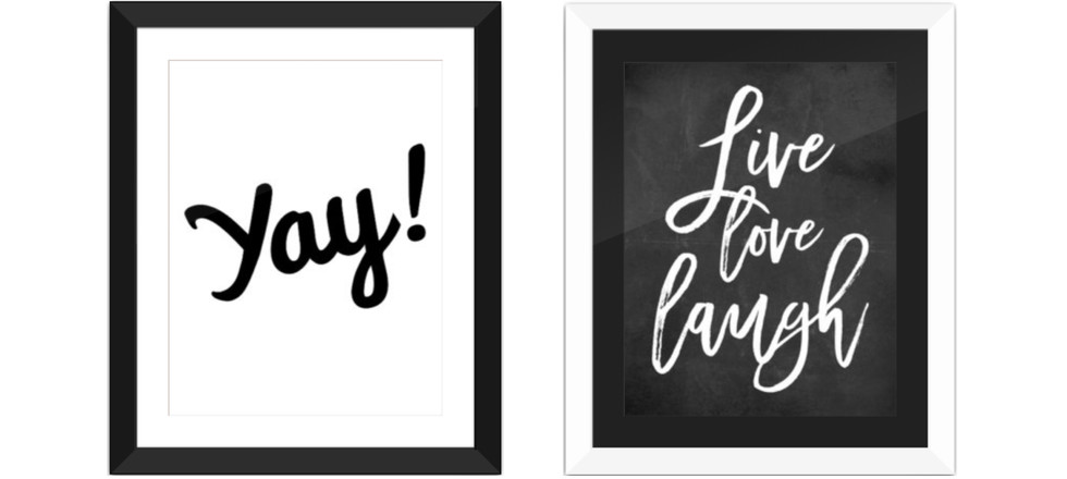 Custom framing typography artwork