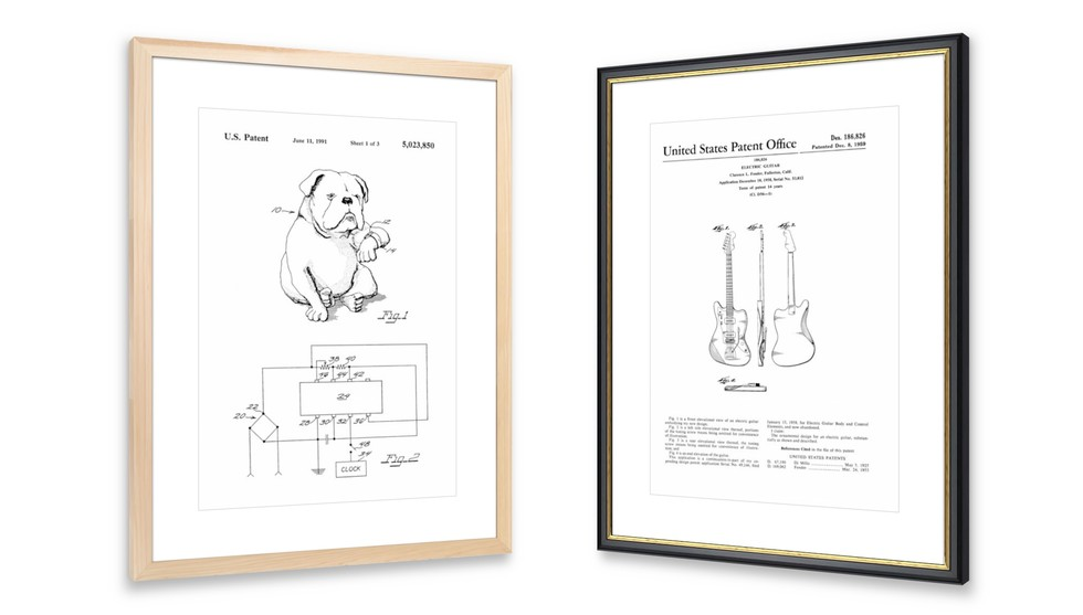 Custom Framing Online Framed Patent Prints