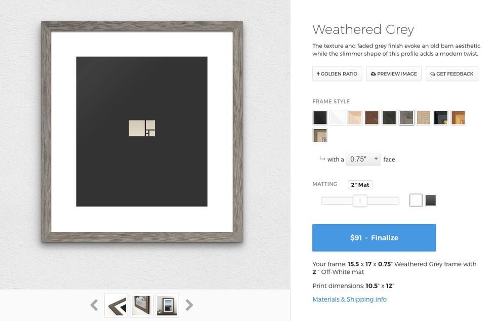 Starting Prices for Custom Frames - Custom Picture Frames