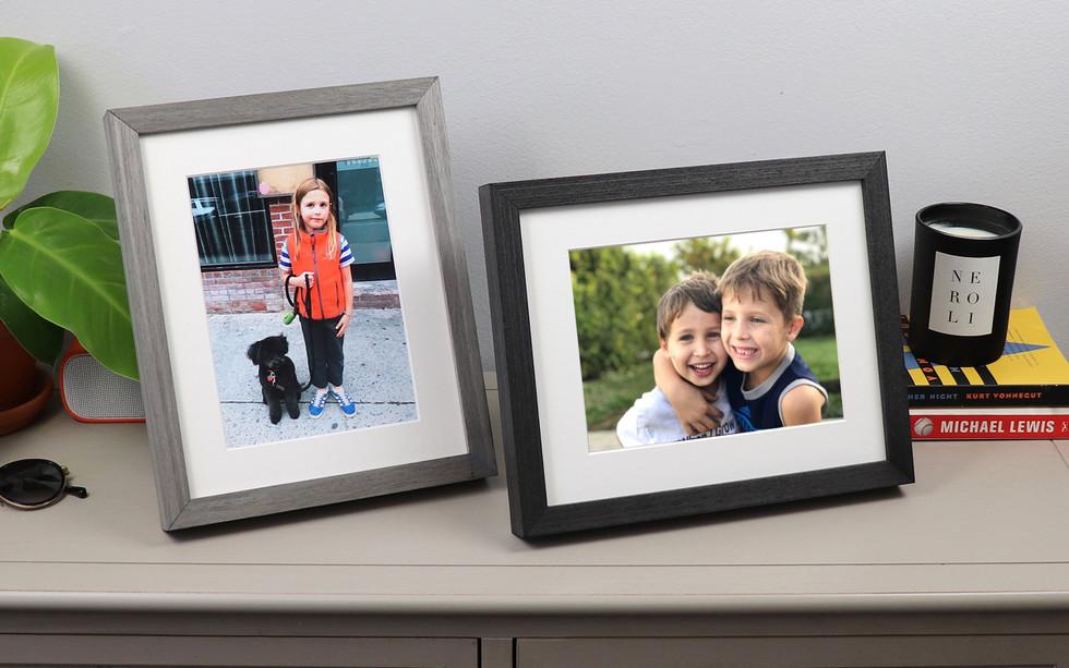 Framed photos from Level Frames