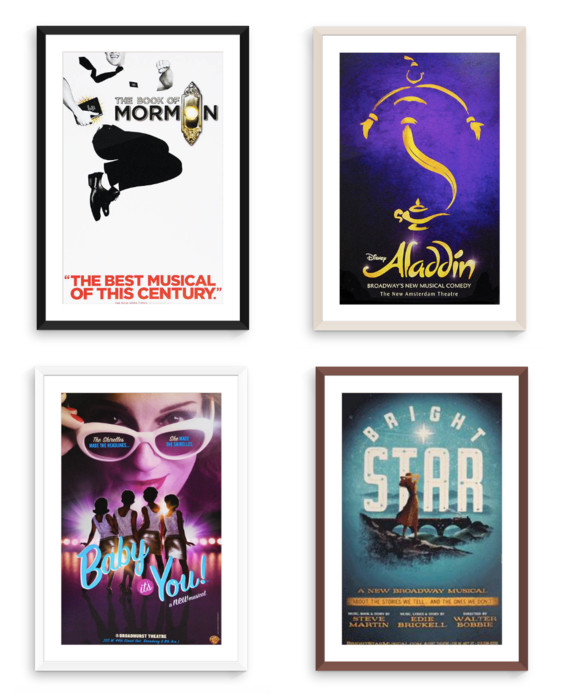 Put On A Show With Framed Broadway Posters - Custom Picture Frames ...
