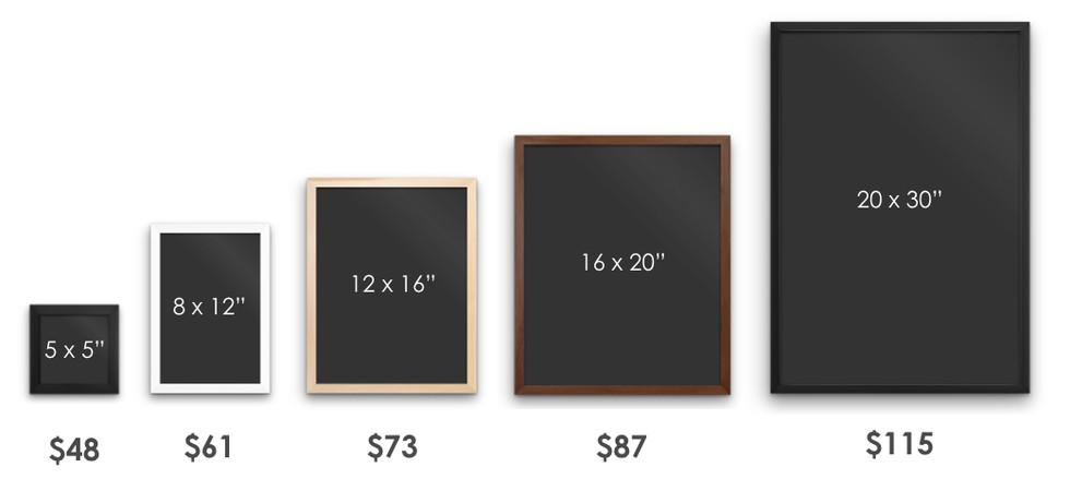 Starting Prices For Custom Frames Custom Picture Frames Online