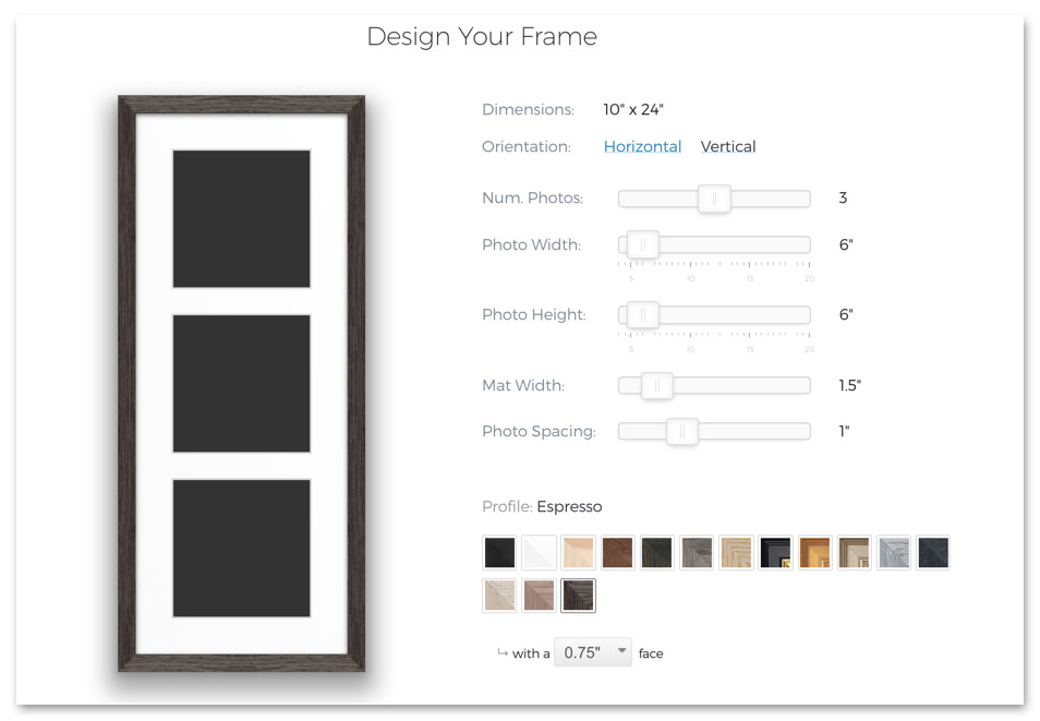 collage picture frame design