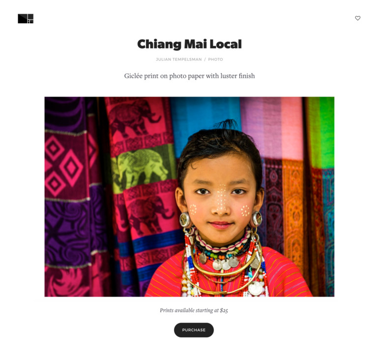 Online Storefront for Photographers