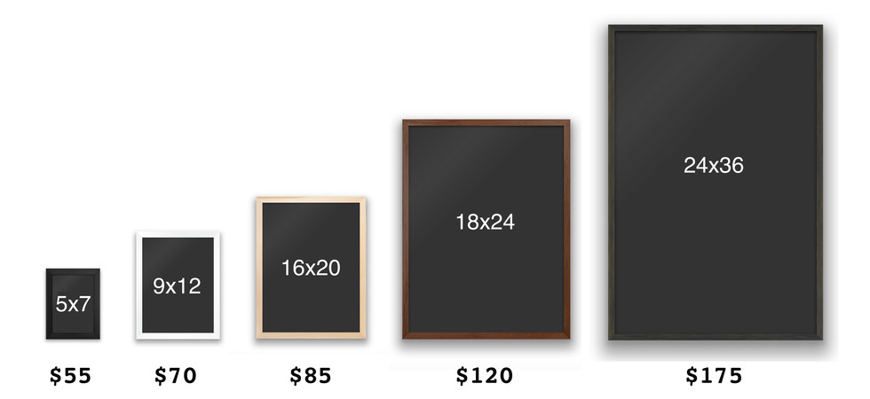 pricing for custom frames online