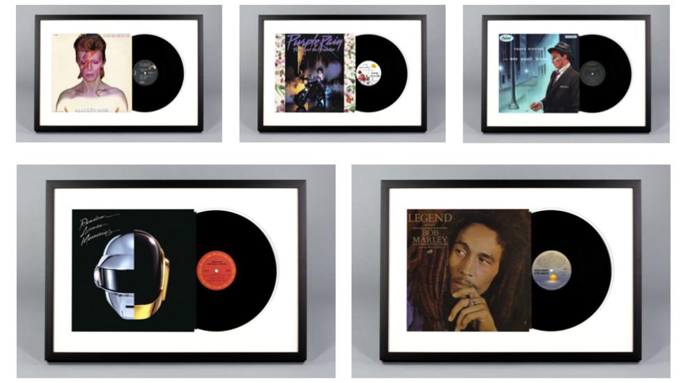 Framed Vinyl Record Albums