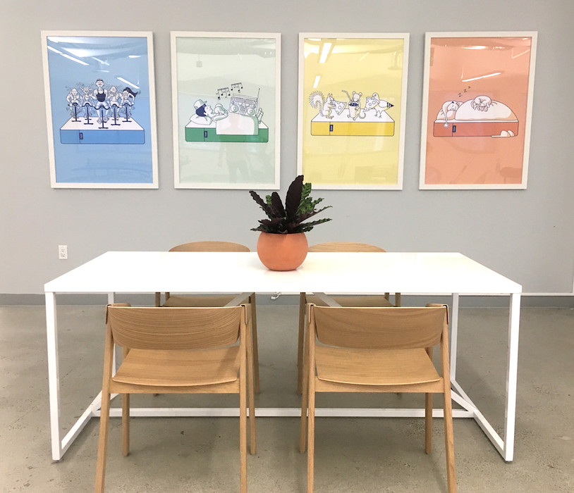 Custom framing artwork and photos for conference rooms