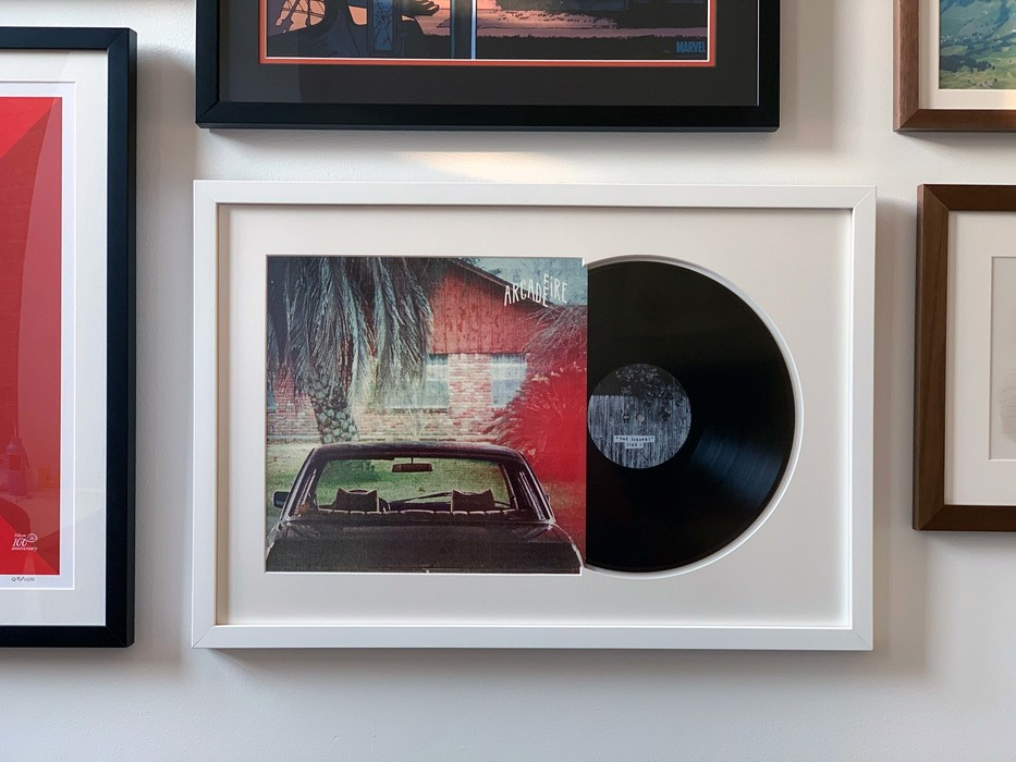 Framed Album Arcade Fire The Suburbs Vinyl