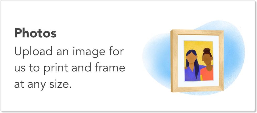 Frame a photo