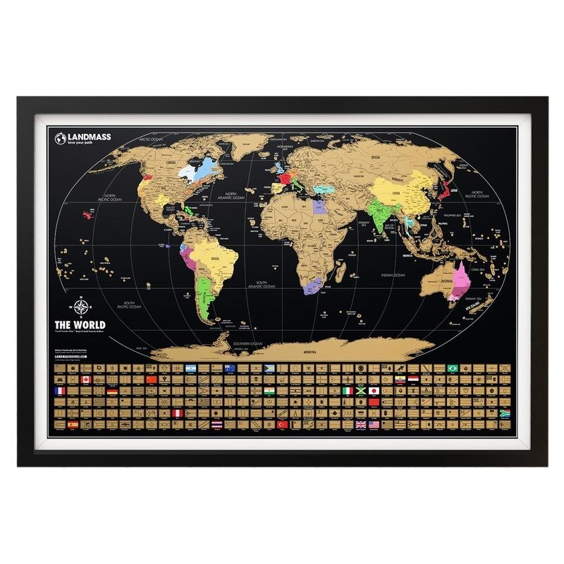 Xl scratch off world map black gold level press xl scratch off world map black gold gumiabroncs Images