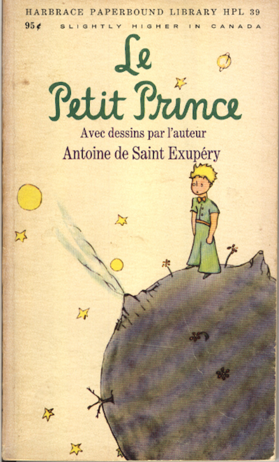 Old Book Cover Quotes : Le petit prince vintage book cover