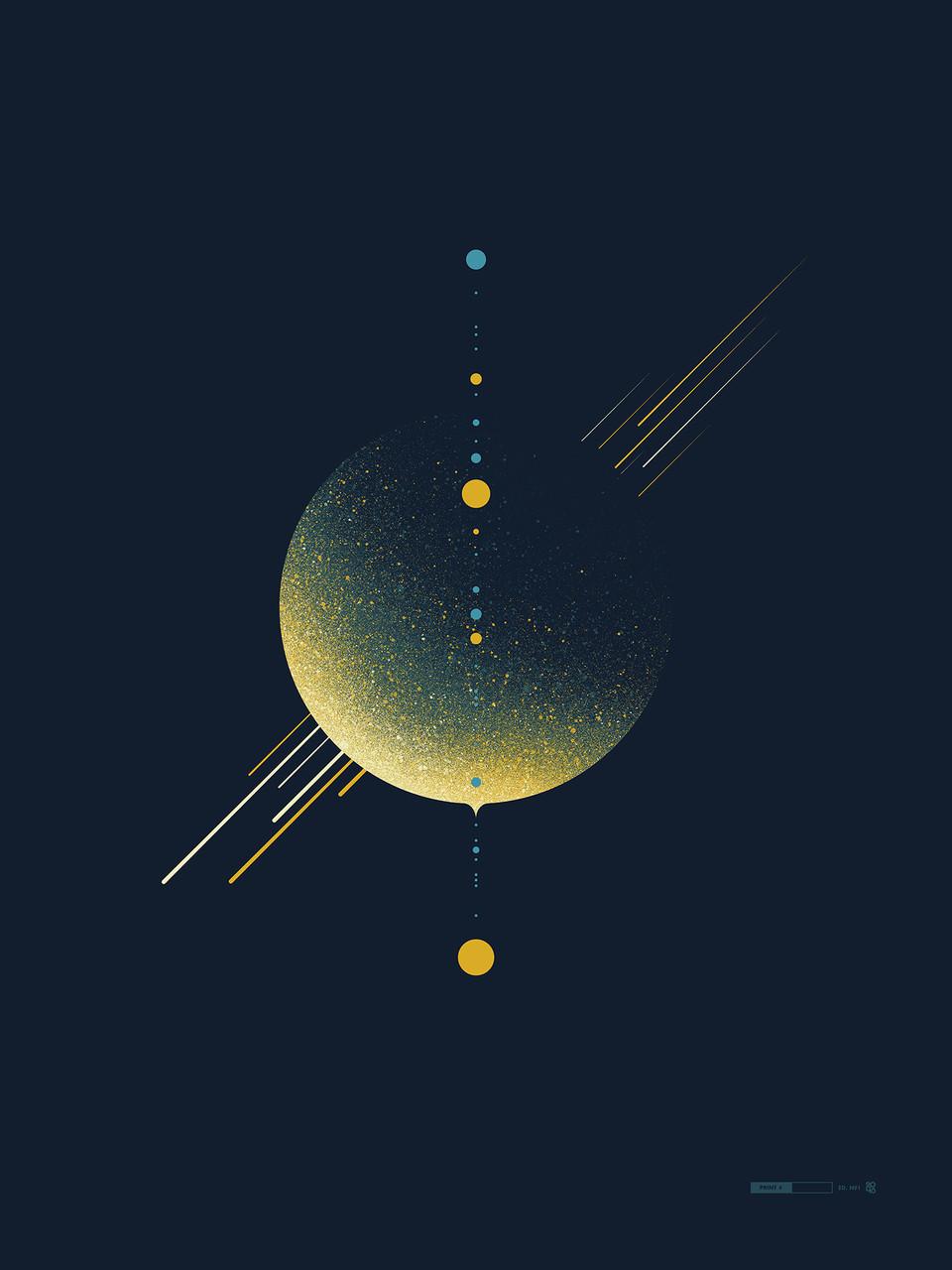 Heavenly Spheres by 2046 Design Custom Framed