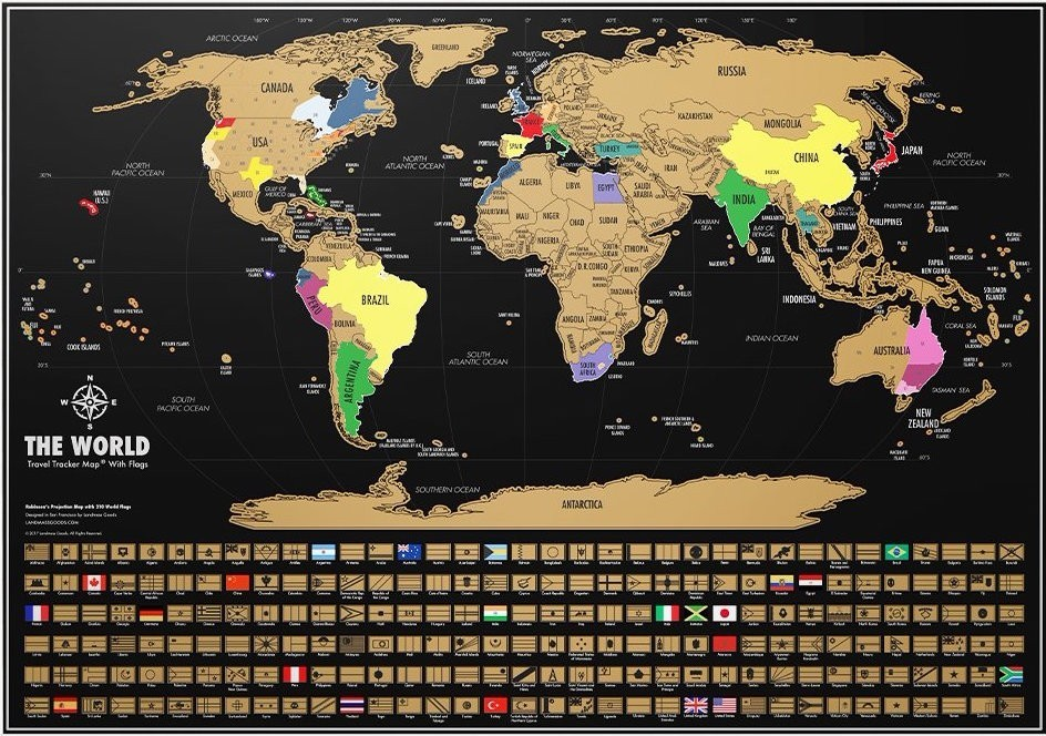 SCRATCH OFF WORLD MAP BLACK GOLD WORLD TRAVEL TRACKER MAP Dot - Black and gold world map