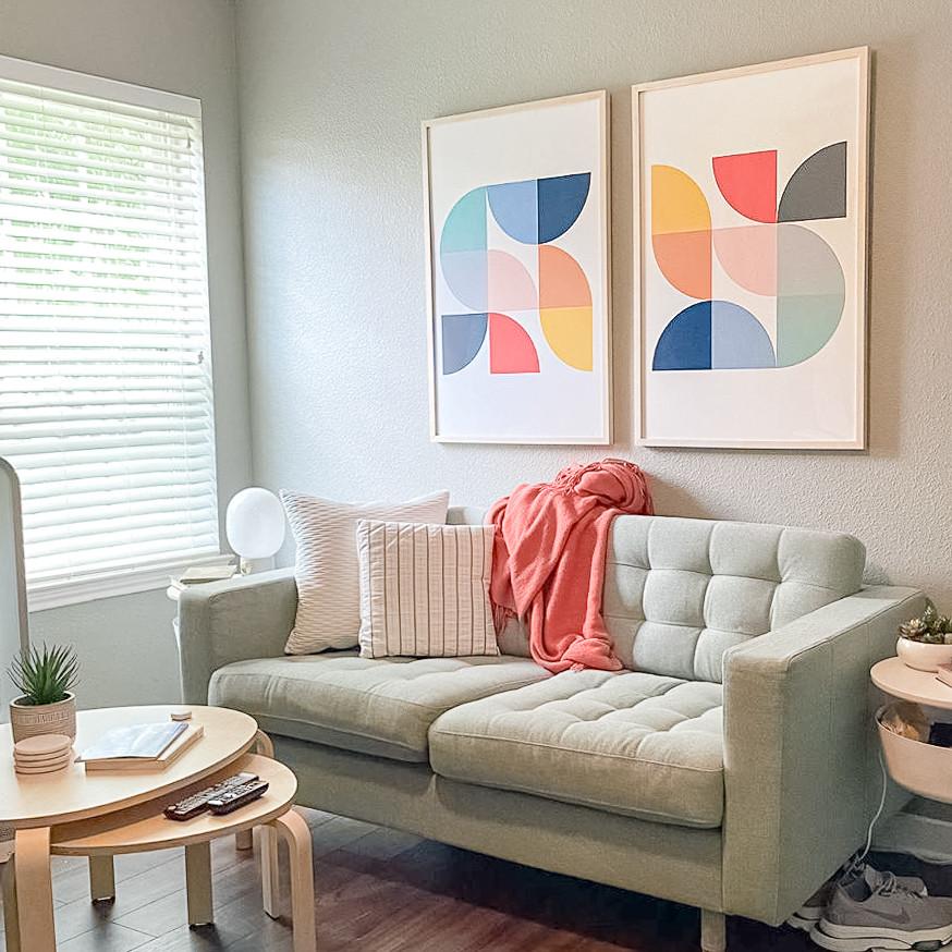Artwork custom framed online with Level Frames