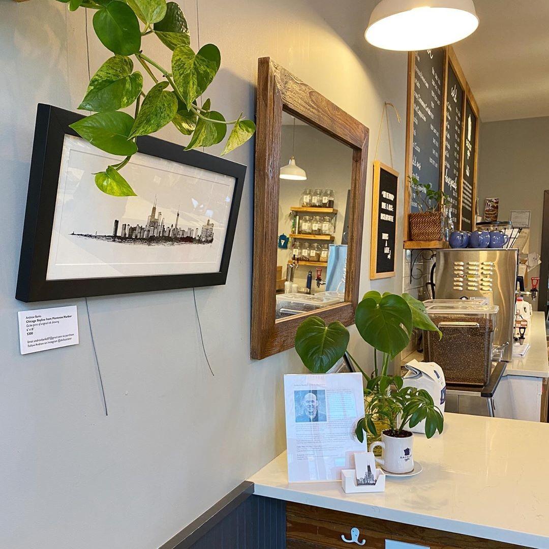 andrew banks custom framed exhibit