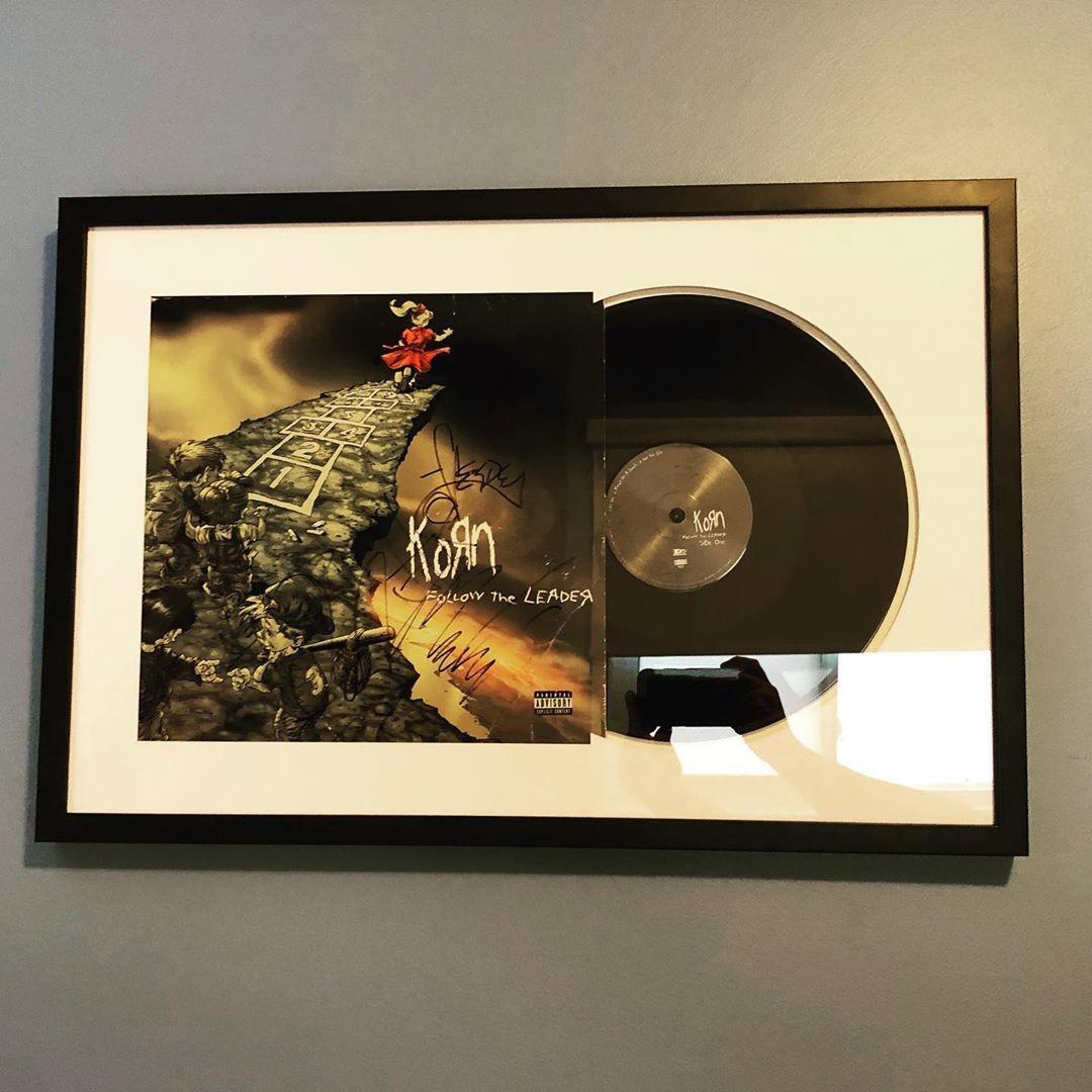 custom framed vinyl record level frames