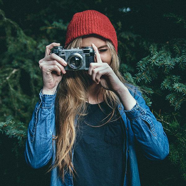 Camera girl square
