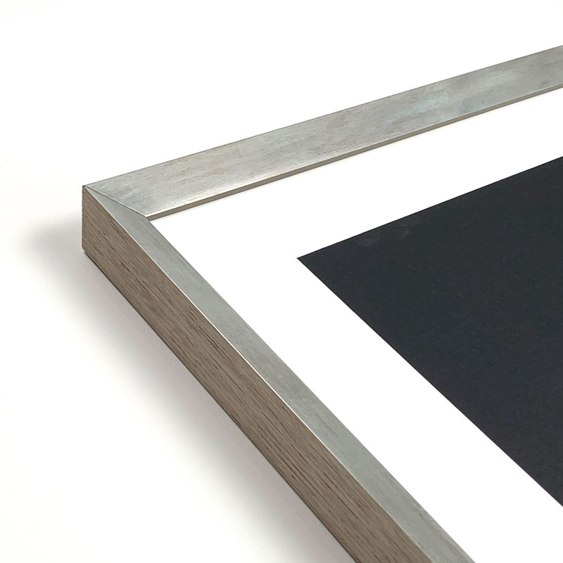Nickel Custom Picture Frame. Online custom framing.