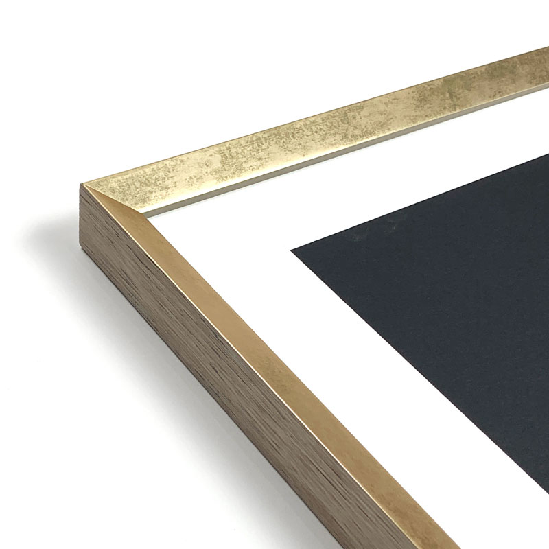 Soft Gold custom picture frame. Custom frame online.