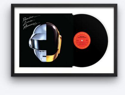 Framed vinyl albums