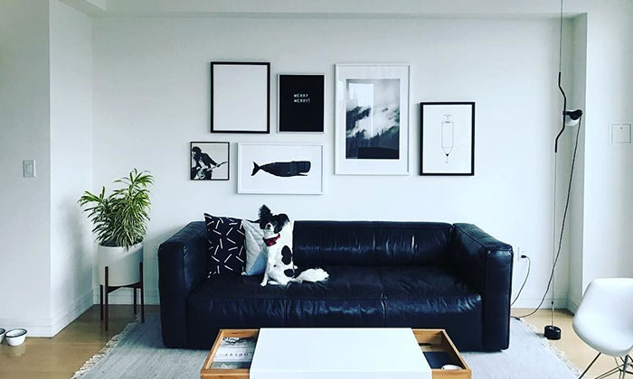 Make a gallery wall - online framing