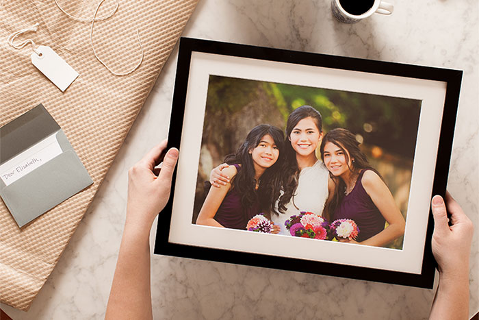 Frame your wedding photos