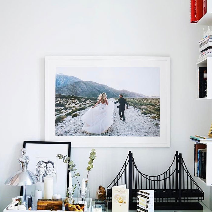 Print and frame wedding photos