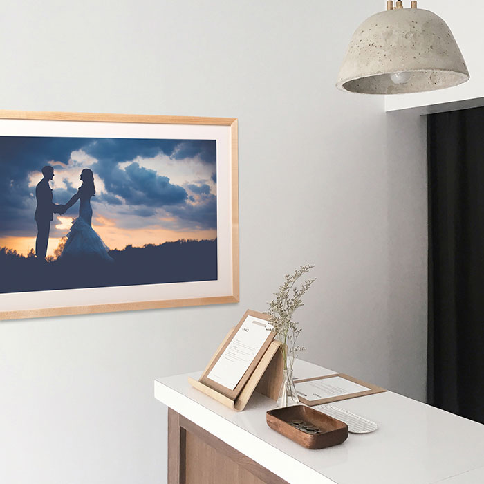 Print and frame your wedding photos