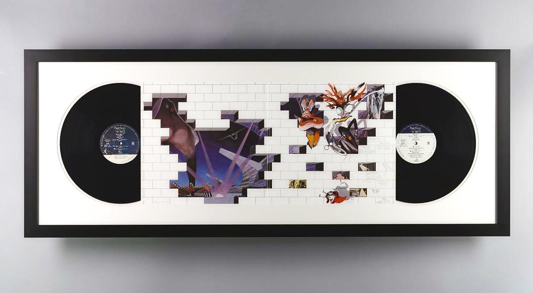 The Wall by Pink Floyd gatefold vinyl custom framed