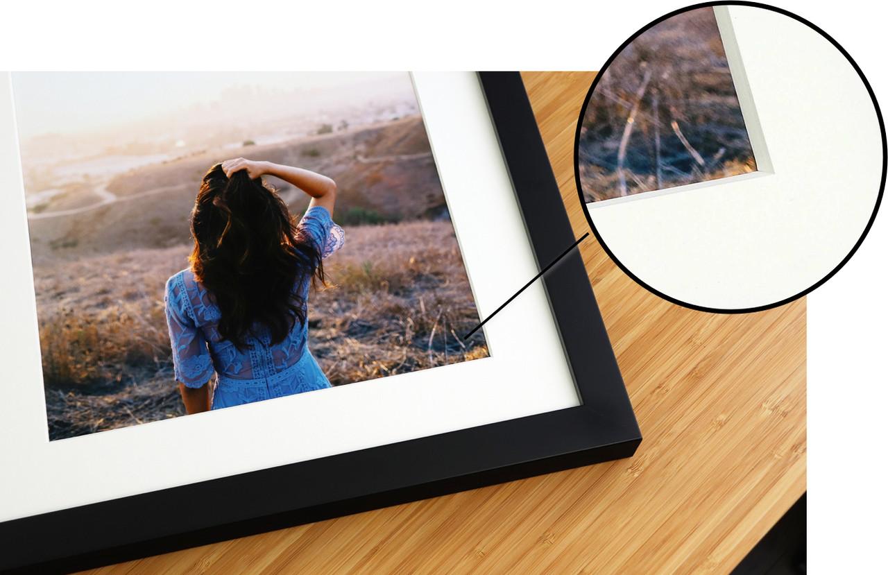 Bevel Cut Mat on Picture Frame Level Frames