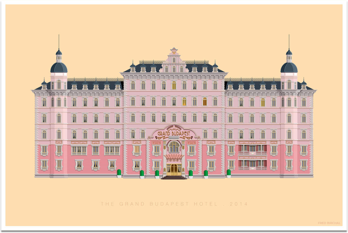 The Grand Budapest Hotel Framed Art Print by Fred Birchal