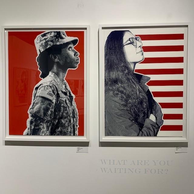 Gigi Salij custom framed artwork on exhibition