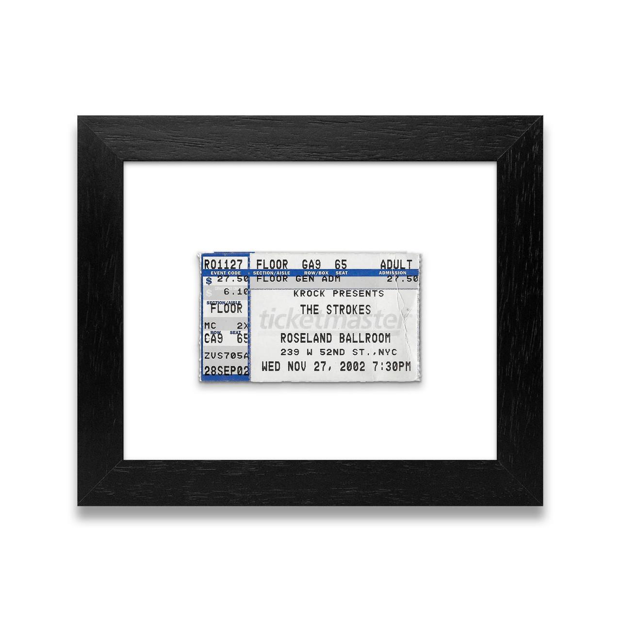 Custom framed concert ticket anniversary gift