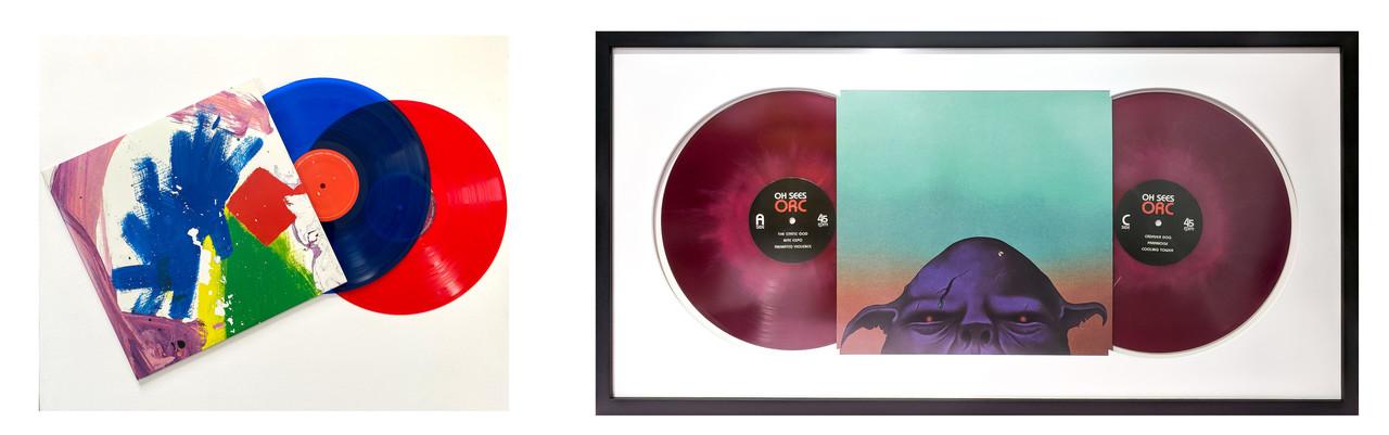 Custom frame a double LP record