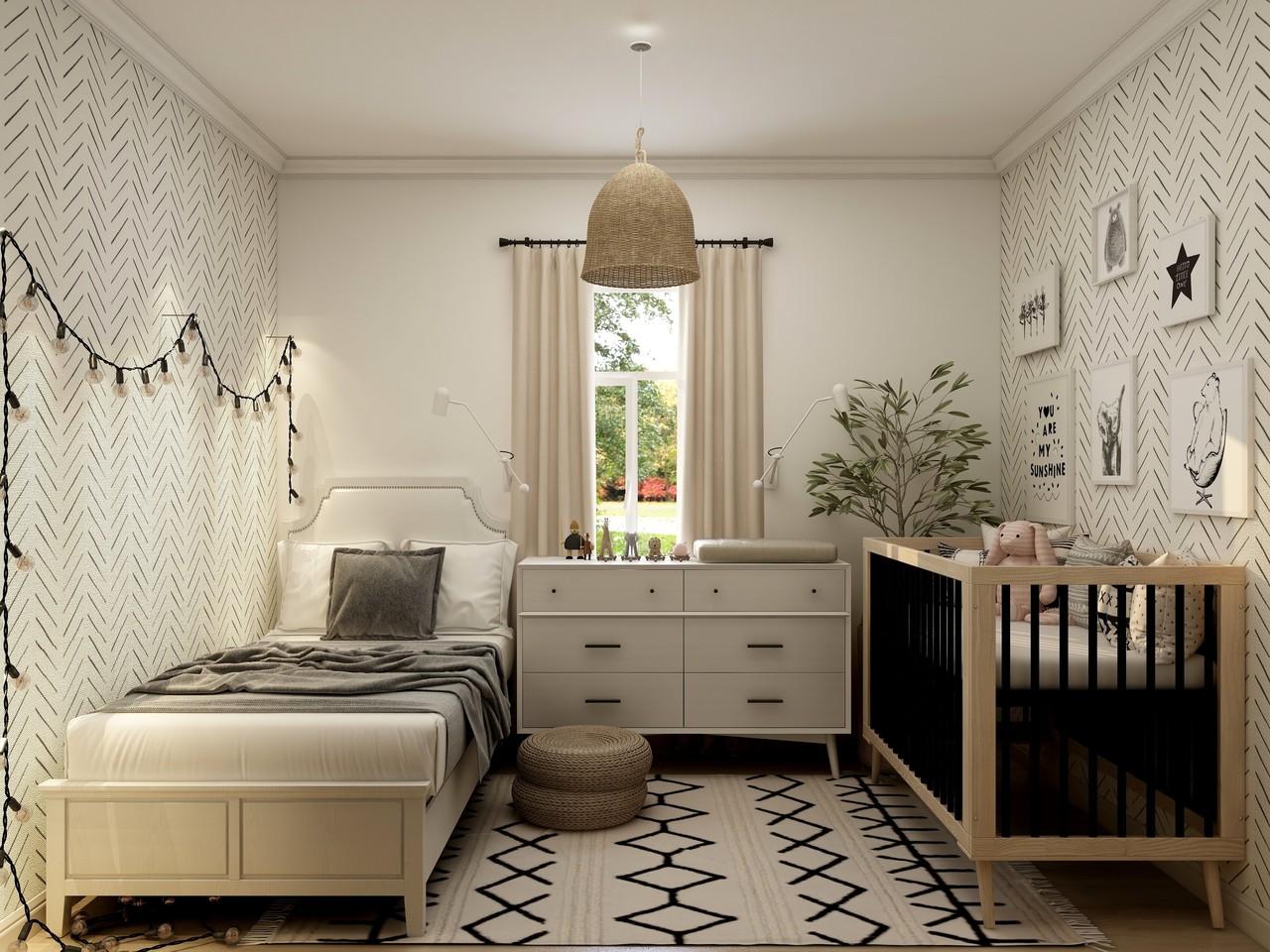 Custom framing and framed art for baby room