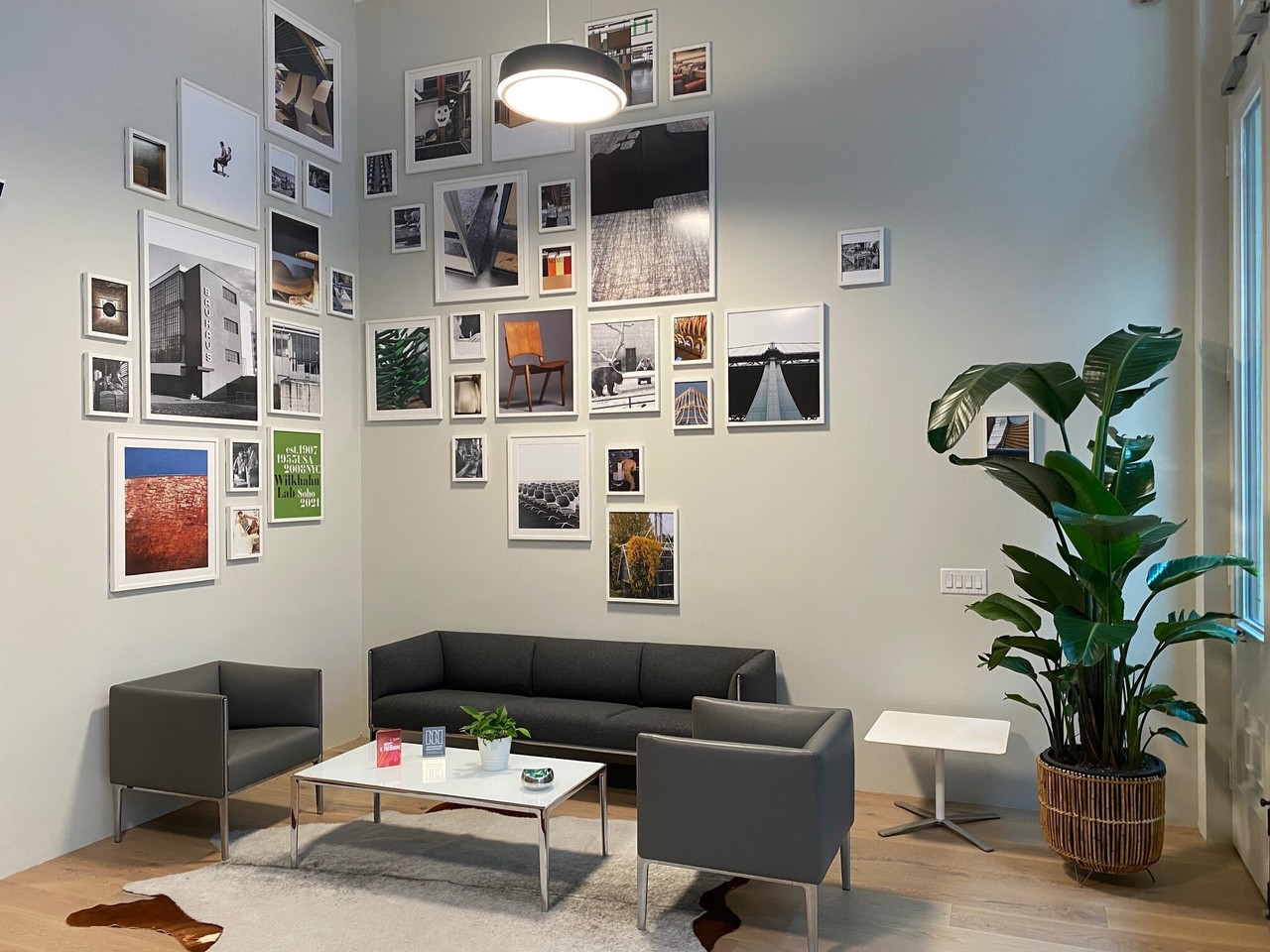 Framed photos gallery wall