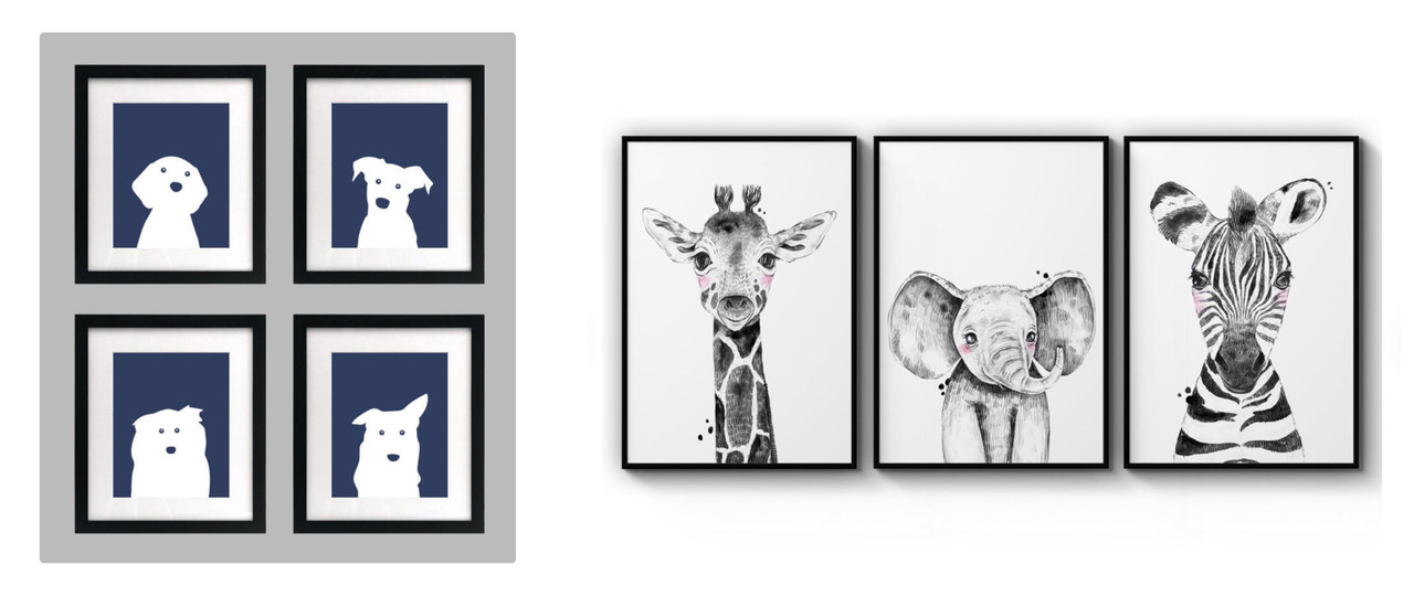 framed kids artwork on etsy