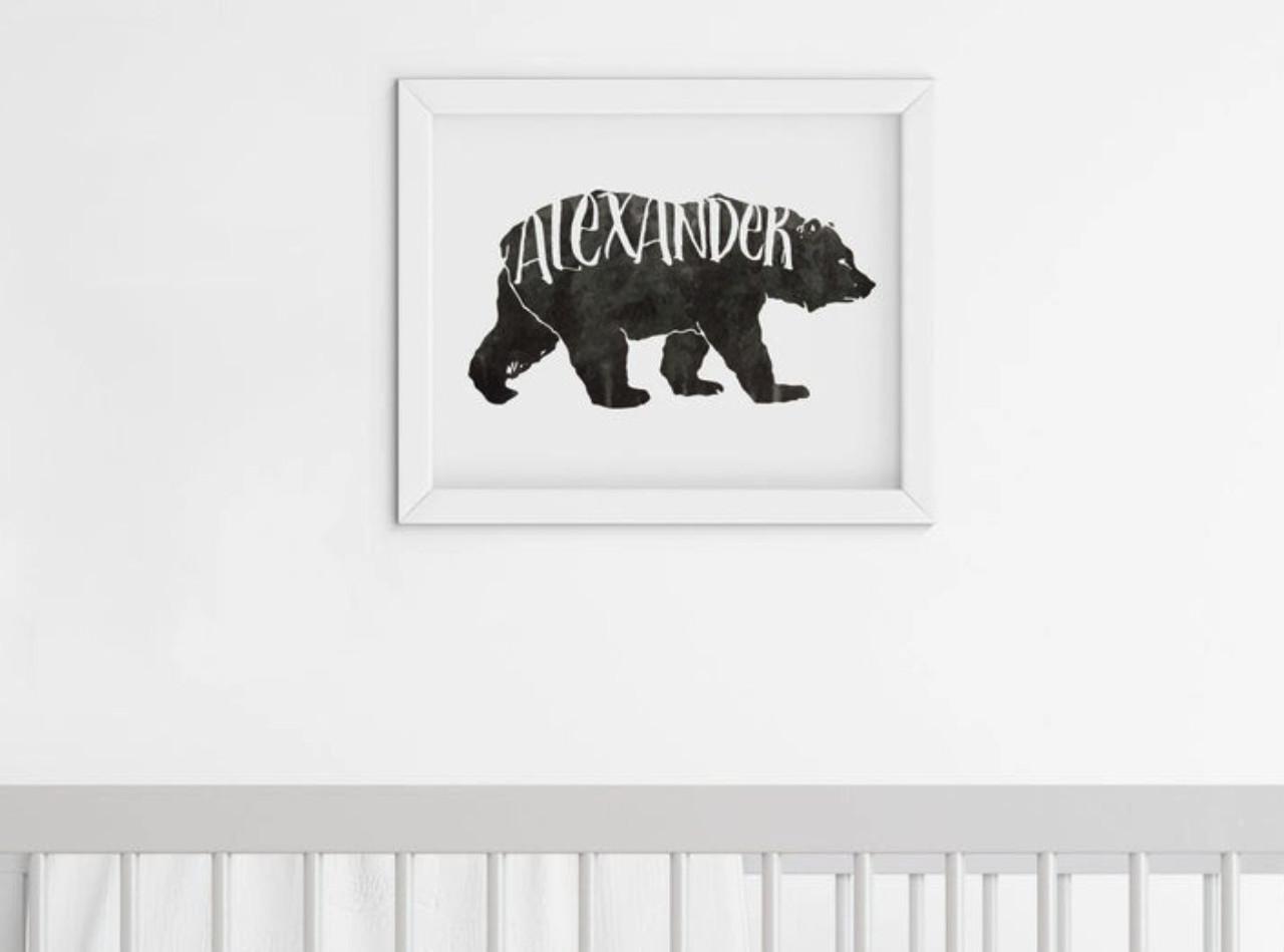 personalized kids artwork custom framed