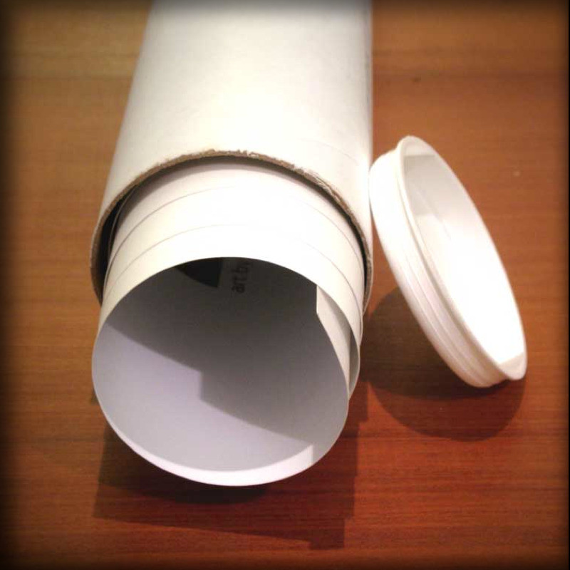 Poster tubes for concert posters and other artwork