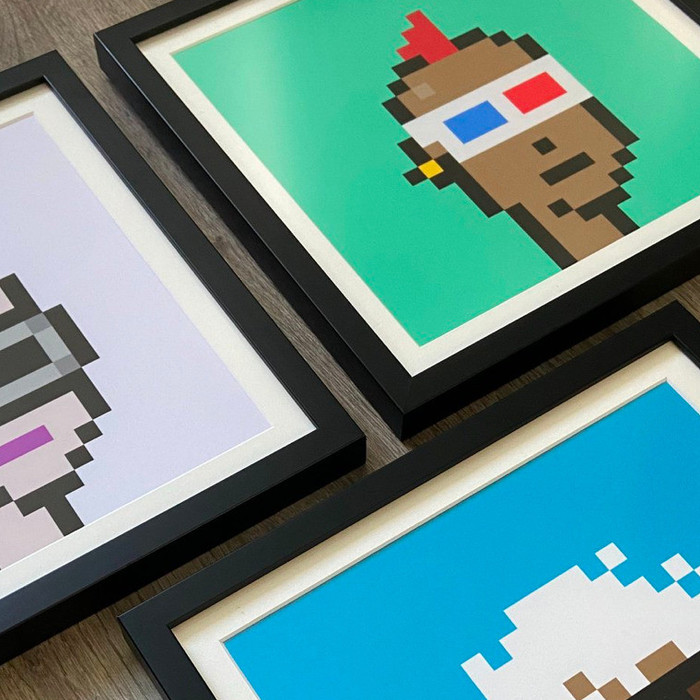 @toddg777 - NFTs are fun to collect, but they're even more fun when you can display them virtually or IRL. Thanks to @levelframes for bringing my fund's Cryptopunks to life!