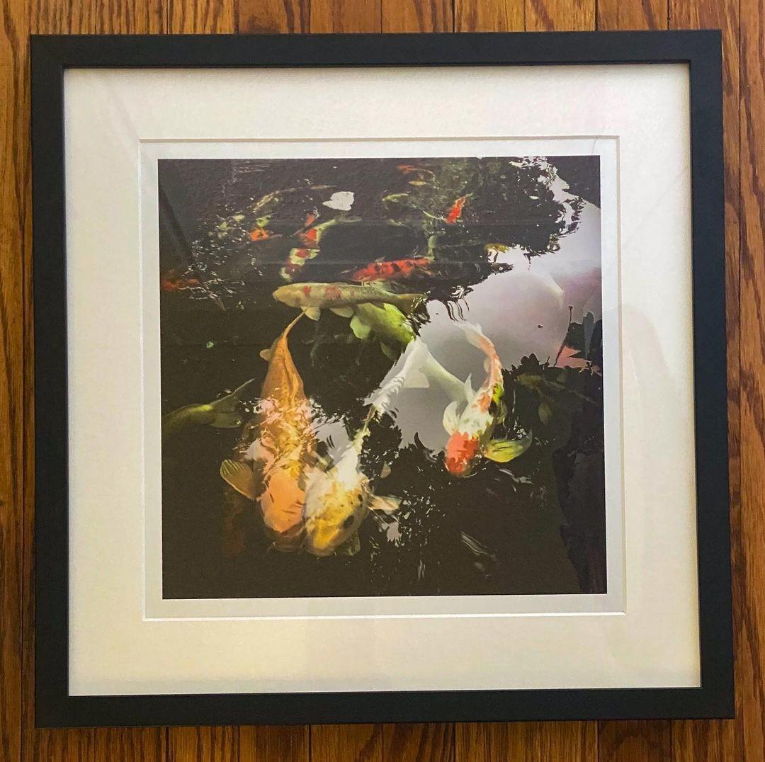 Custom framed photo with matting