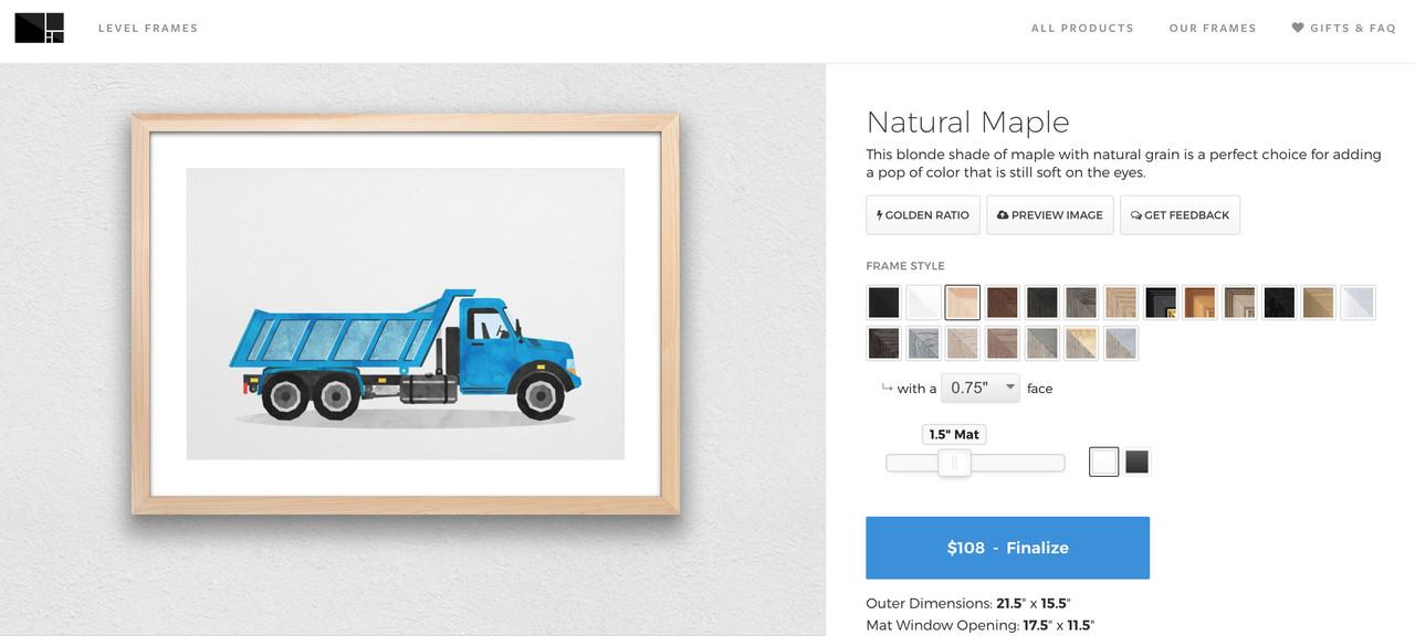 Design a custom frame online
