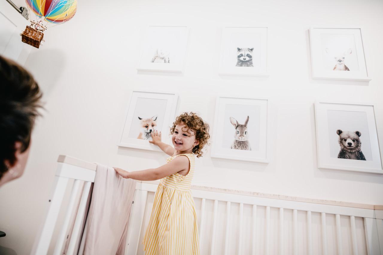 Framed animal prints from OonaWallArt on Etsy